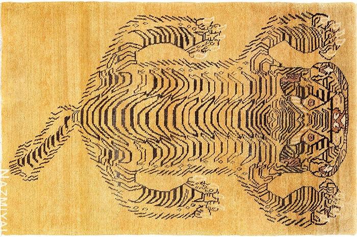 Vintage Chinese Tiger Rug by Nazmiyal