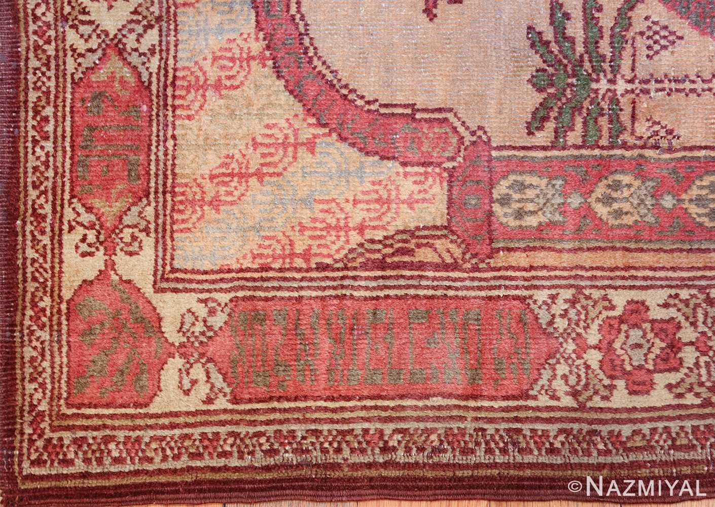 antique marbediah israeli rug 49590 side Nazmiyal