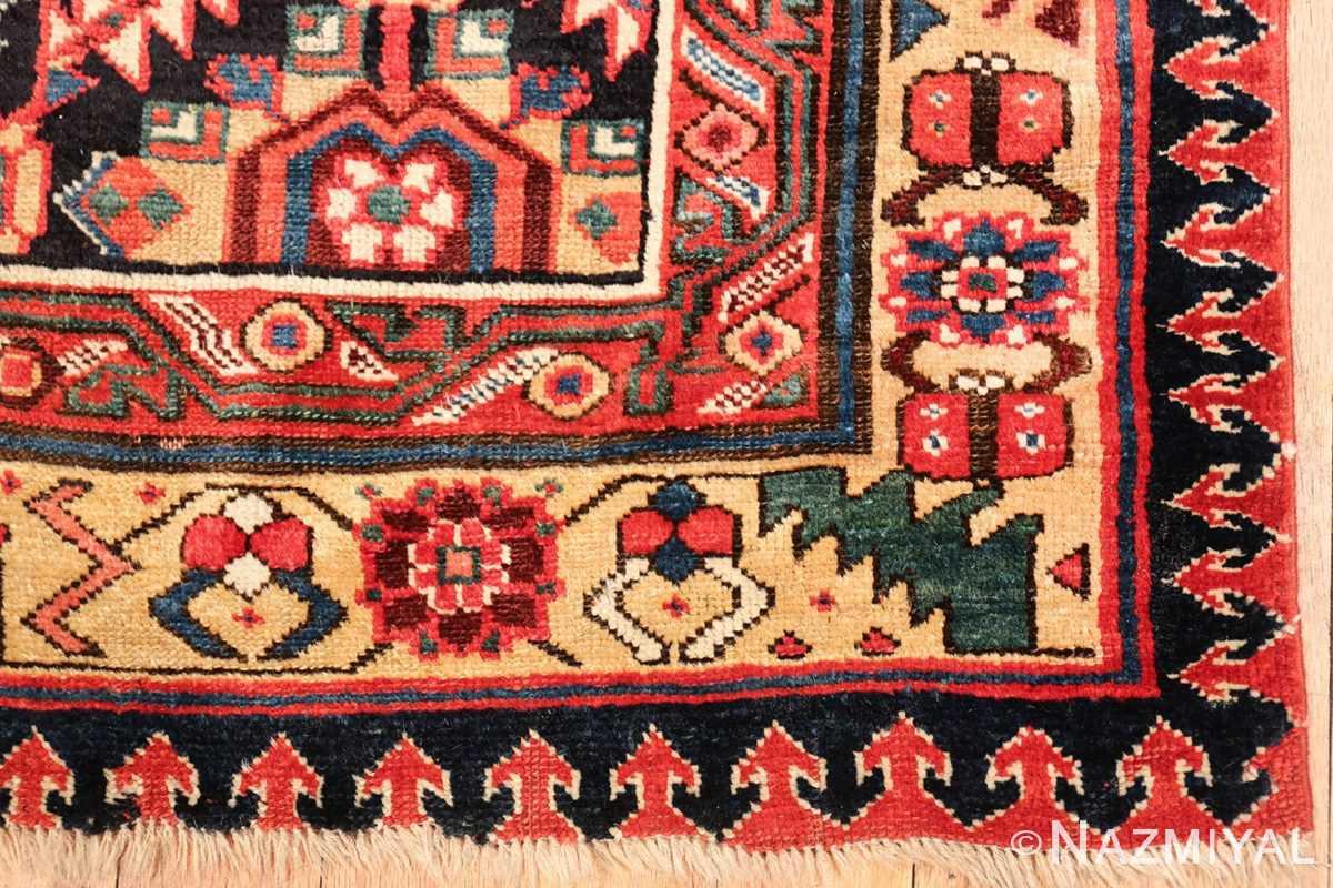 antique navy background northwest persian rug 49586 corner Nazmiyal