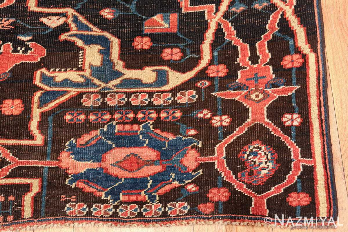 antique persian bidjar sampler rug 49510 corner Nazmiyal