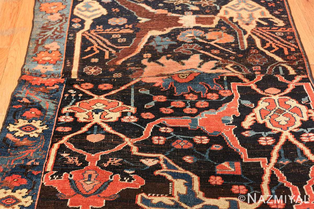 antique persian bidjar sampler rug 49510 field Nazmiyal