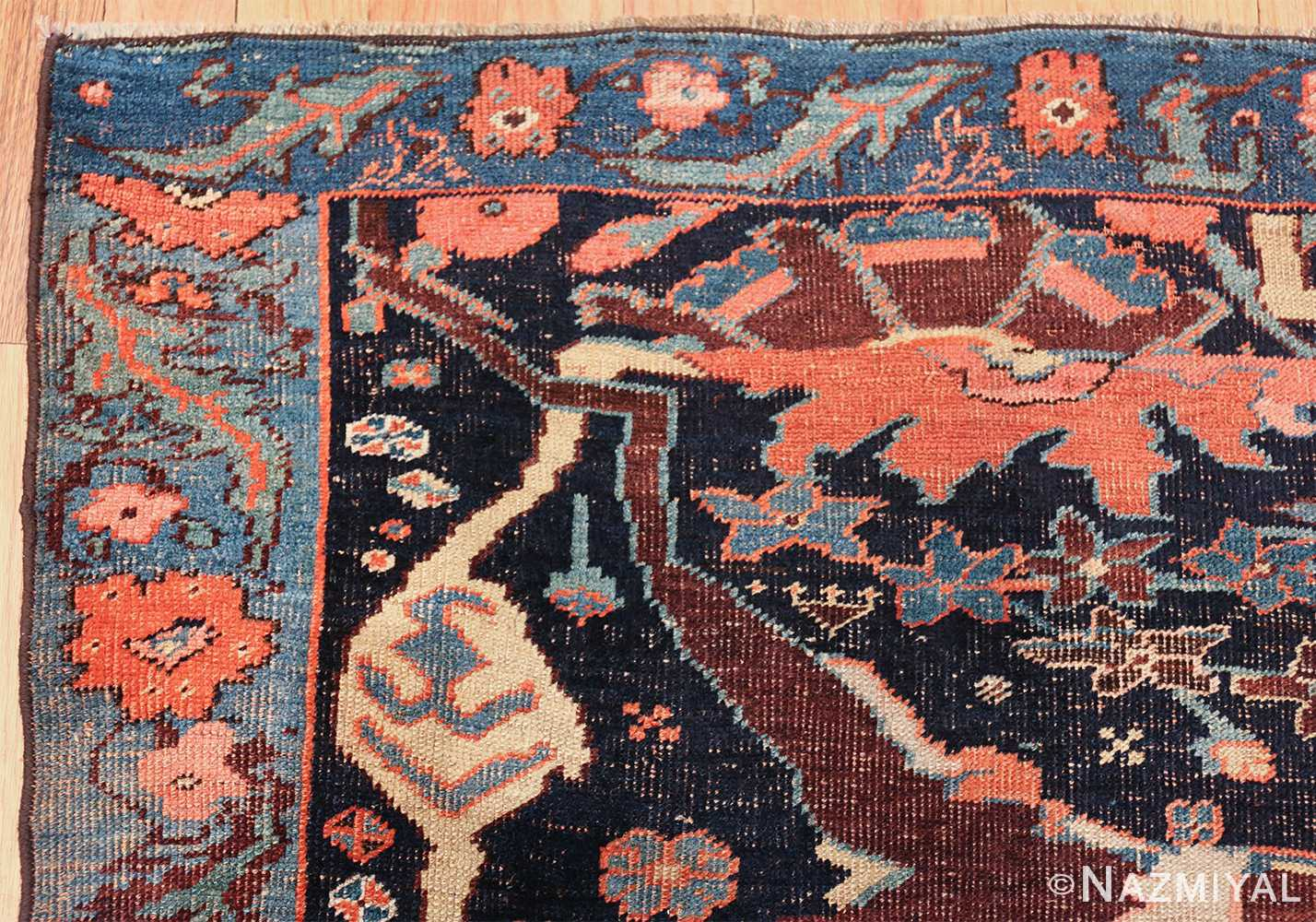 antique persian bidjar sampler rug 49510 part Nazmiyal