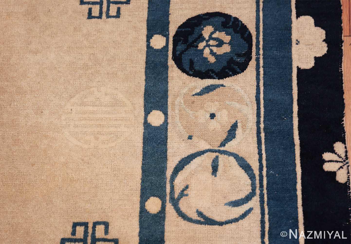 antique room size chinese rug 49582 border Nazmiyal