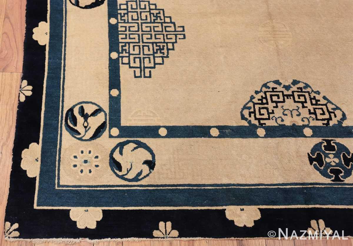 antique room size chinese rug 49582 corner Nazmiyal