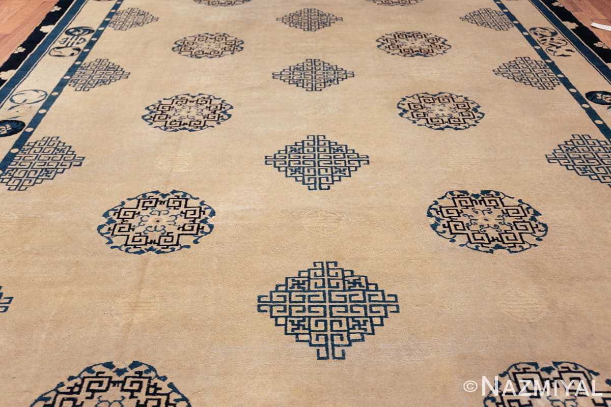 antique room size chinese rug 49582 field Nazmiyal