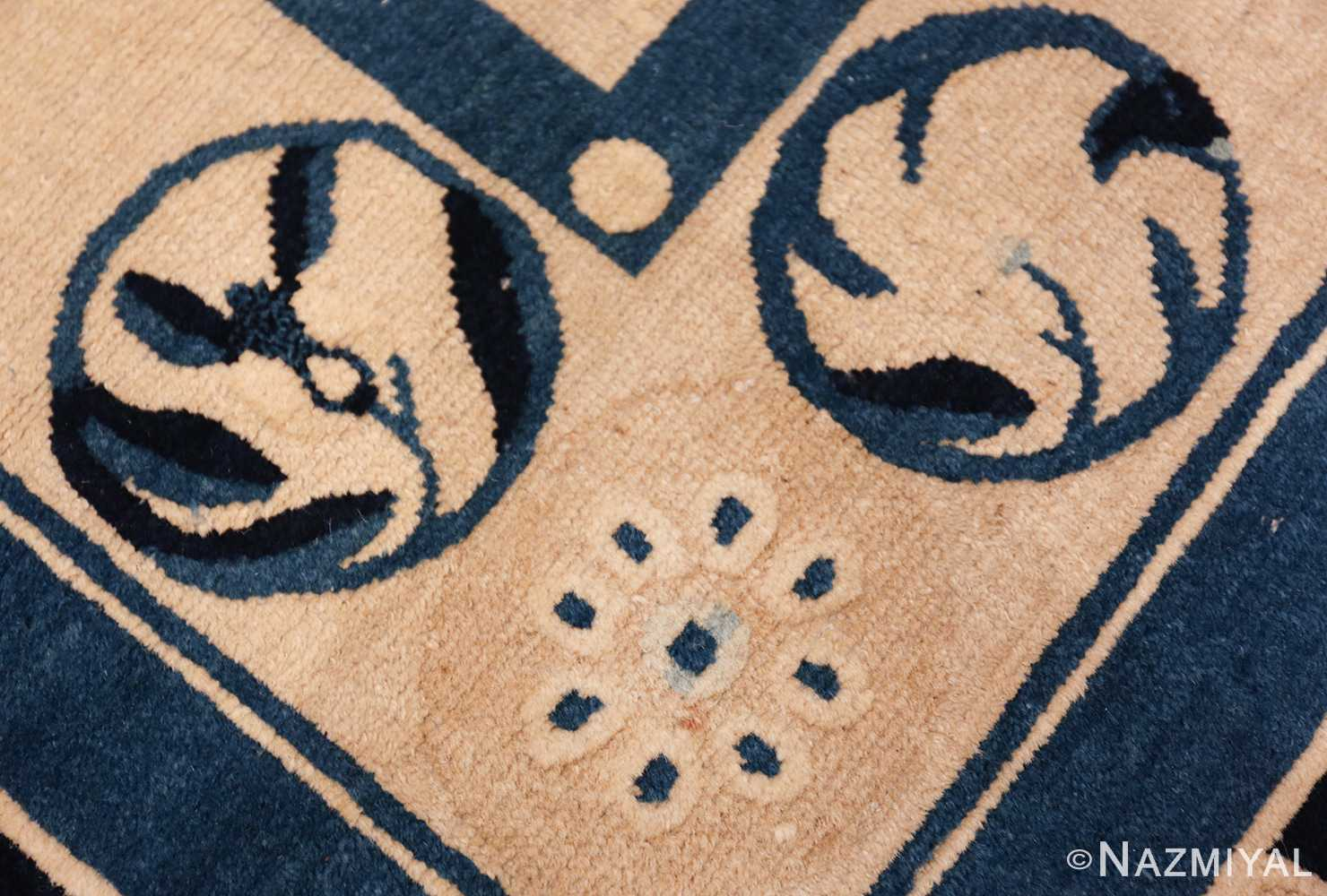 antique room size chinese rug 49582 flower Nazmiyal