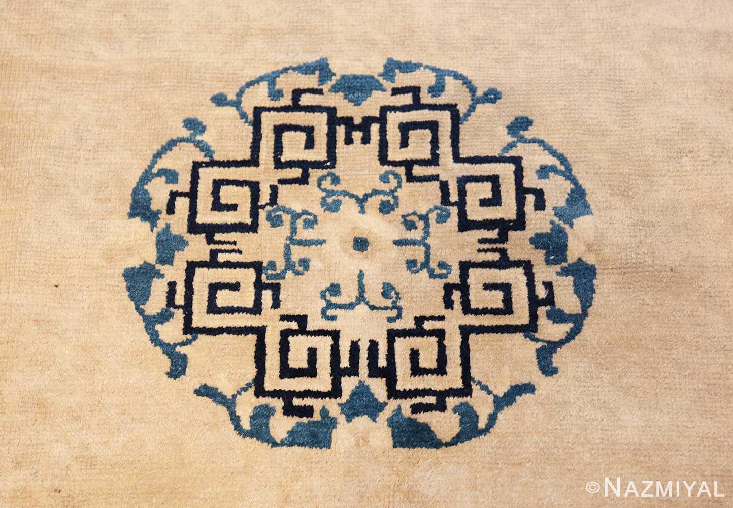 antique room size chinese rug 49582 medallion Nazmiyal