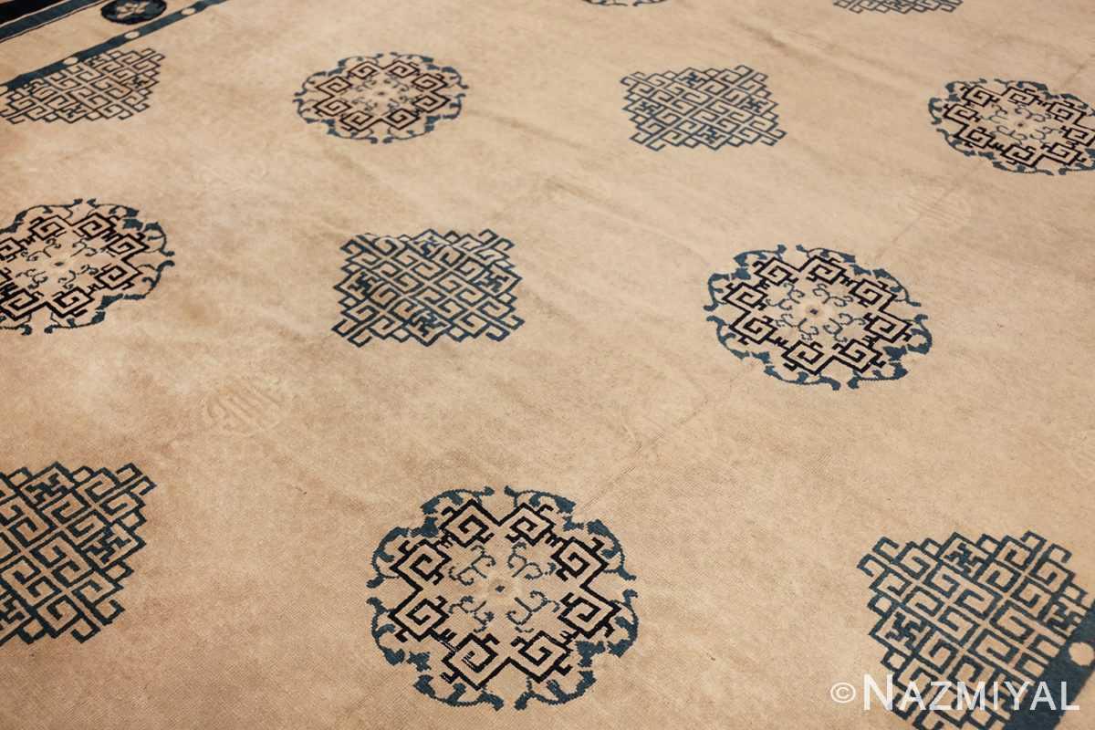 antique room size chinese rug 49582 side Nazmiyal