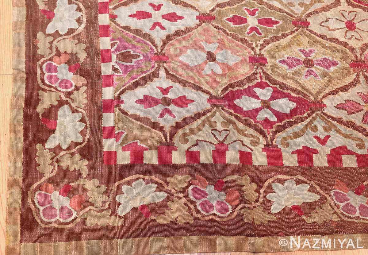 antique square french aubusson rug 47138 part Nazmiyal
