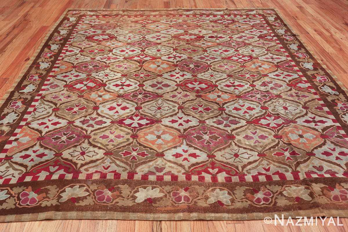 antique square french aubusson rug 47138 whole Nazmiyal