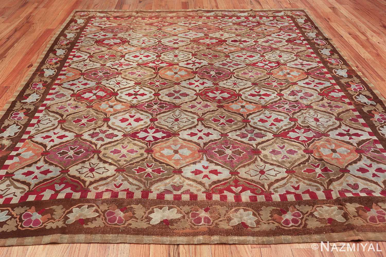 antique square french aubusson rug 47138 whole Nazmiyal