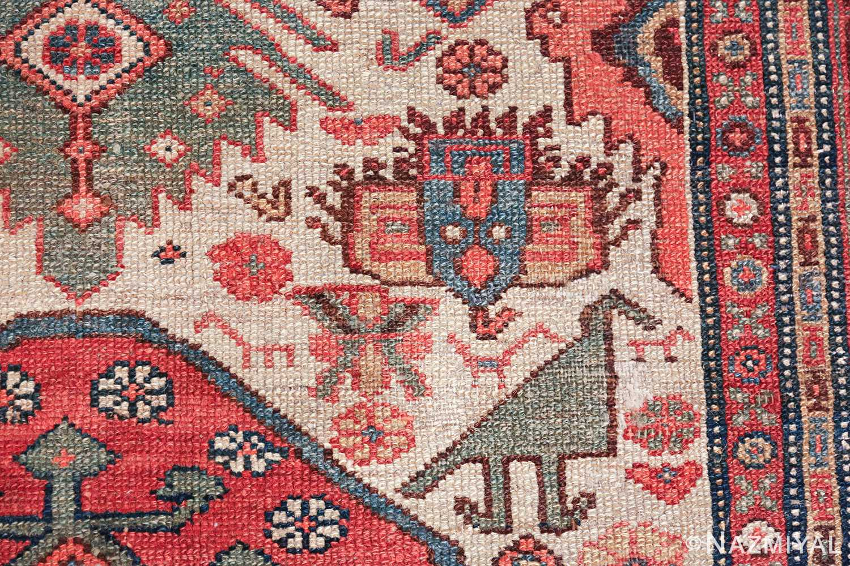 antique tribal ivory background bakshaish persian rug 49508 bird Nazmiyal