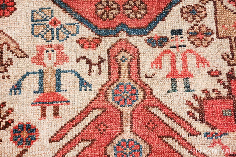 antique tribal ivory background bakshaish persian rug 49508 couple Nazmiyal