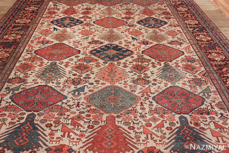antique tribal ivory background bakshaish persian rug 49508 field Nazmiyal