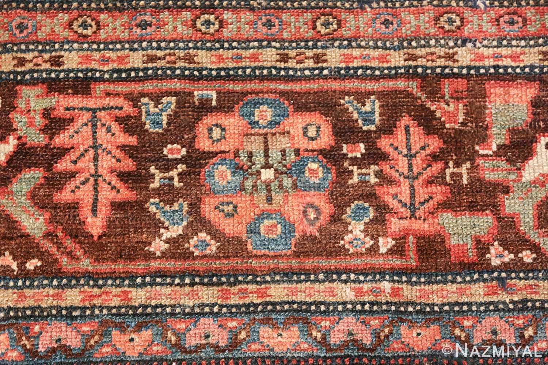 antique tribal ivory background bakshaish persian rug 49508 green Nazmiyal