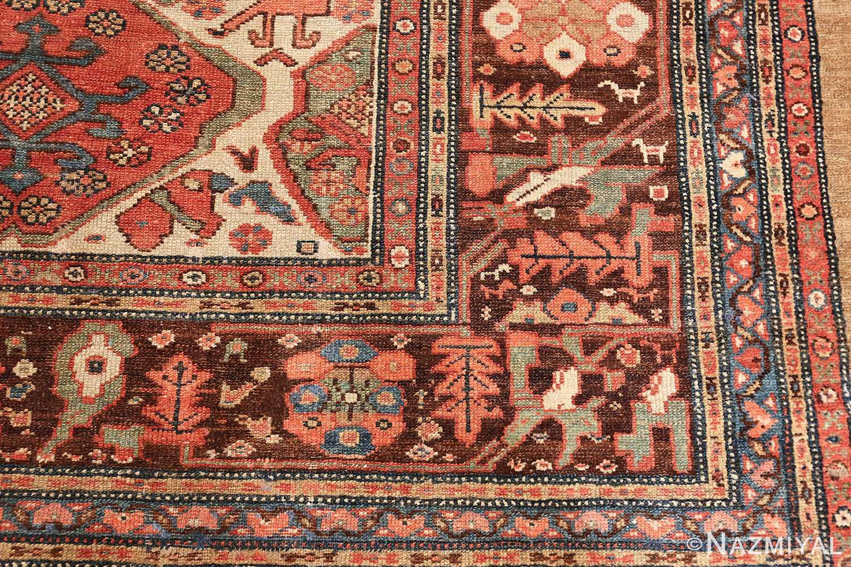 antique tribal ivory background bakshaish persian rug 49508 inner Nazmiyall