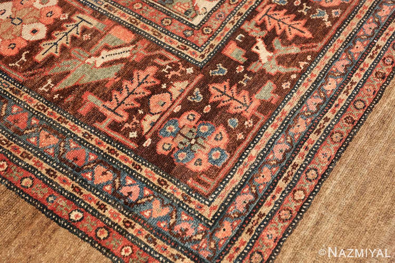 antique tribal ivory background bakshaish persian rug 49508 lines Nazmiyal