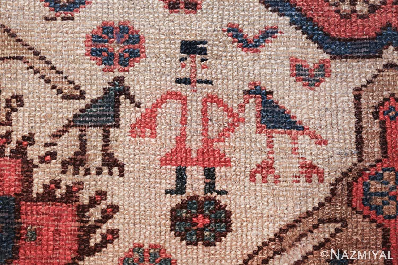 antique tribal ivory background bakshaish persian rug 49508 mustache Nazmiyal