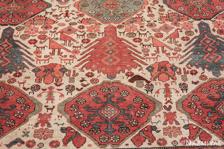 antique tribal ivory background bakshaish persian rug 49508 nose blue Nazmiyal