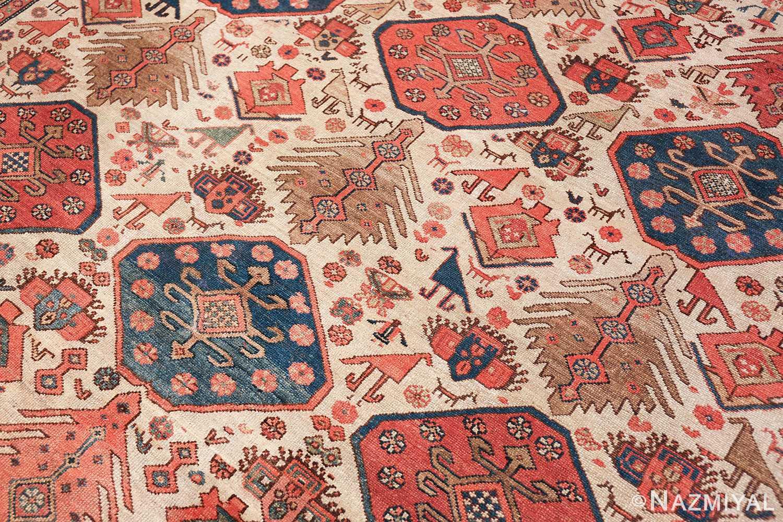 antique tribal ivory background bakshaish persian rug 49508 side Nazmiyal