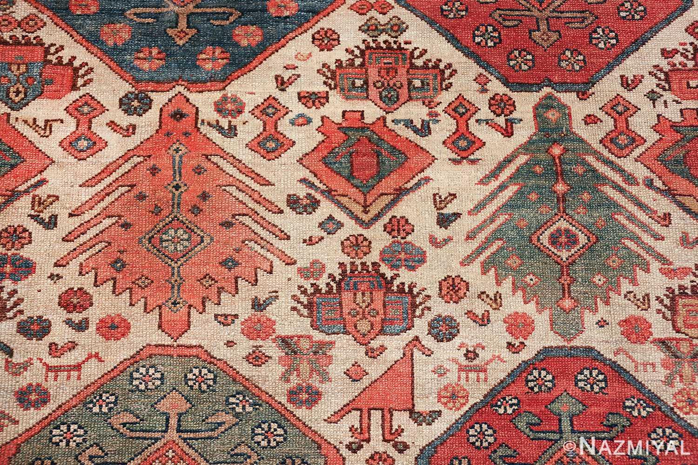 antique tribal ivory background bakshaish persian rug 49508 trees Nazmiyal