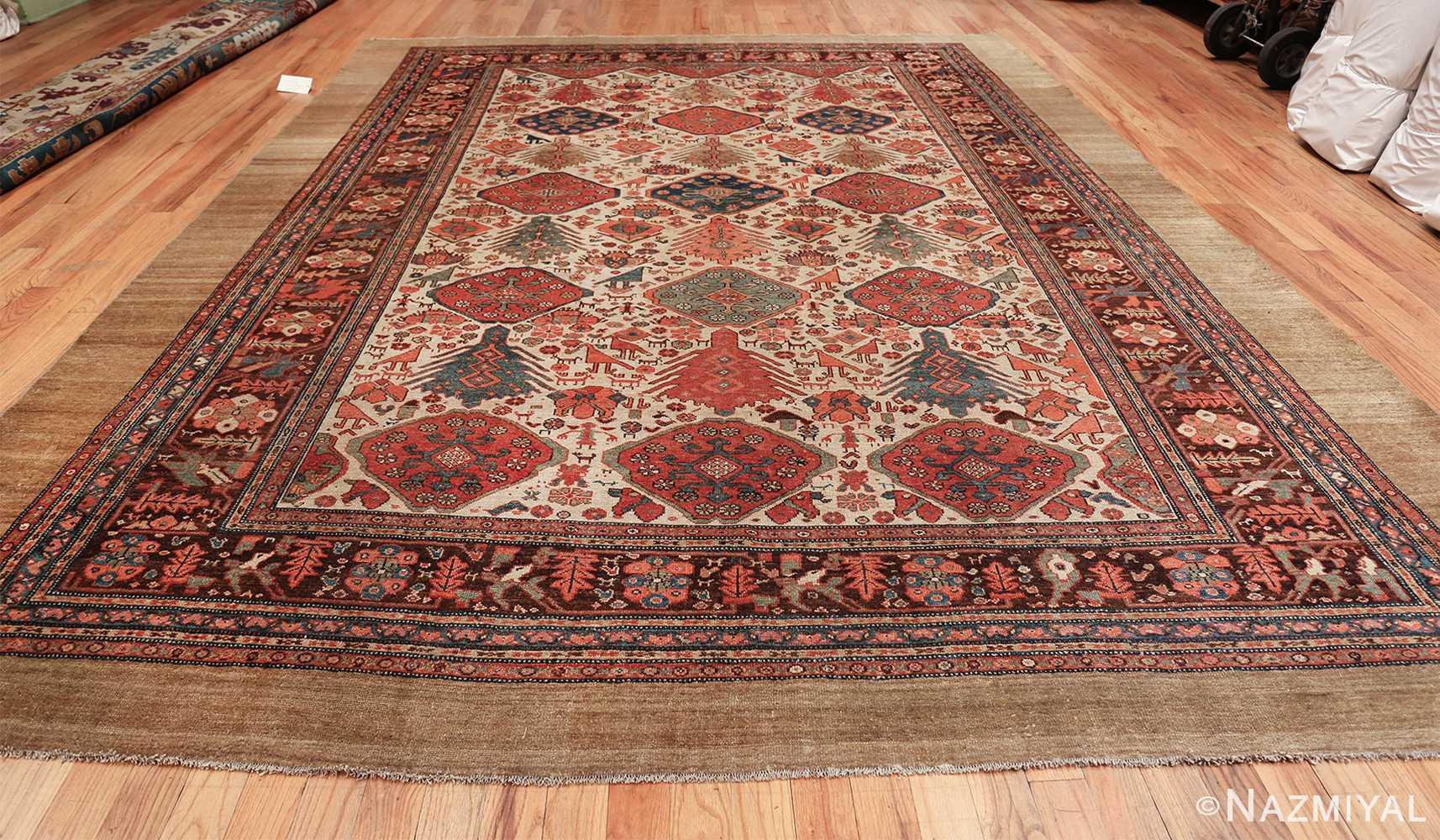 antique tribal ivory background bakshaish persian rug 49508 whole Nazmiyal