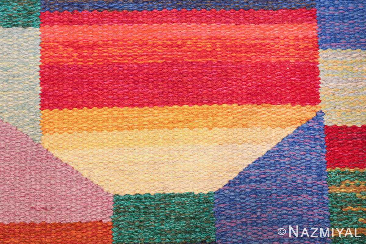 colorful vintage scandinavian kilim rug by agda osterberg 49573 colors Nazmiyal