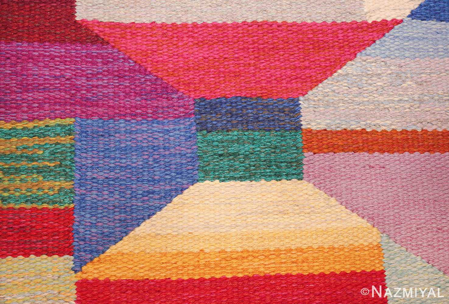 colorful vintage scandinavian kilim rug by agda osterberg 49573 middle