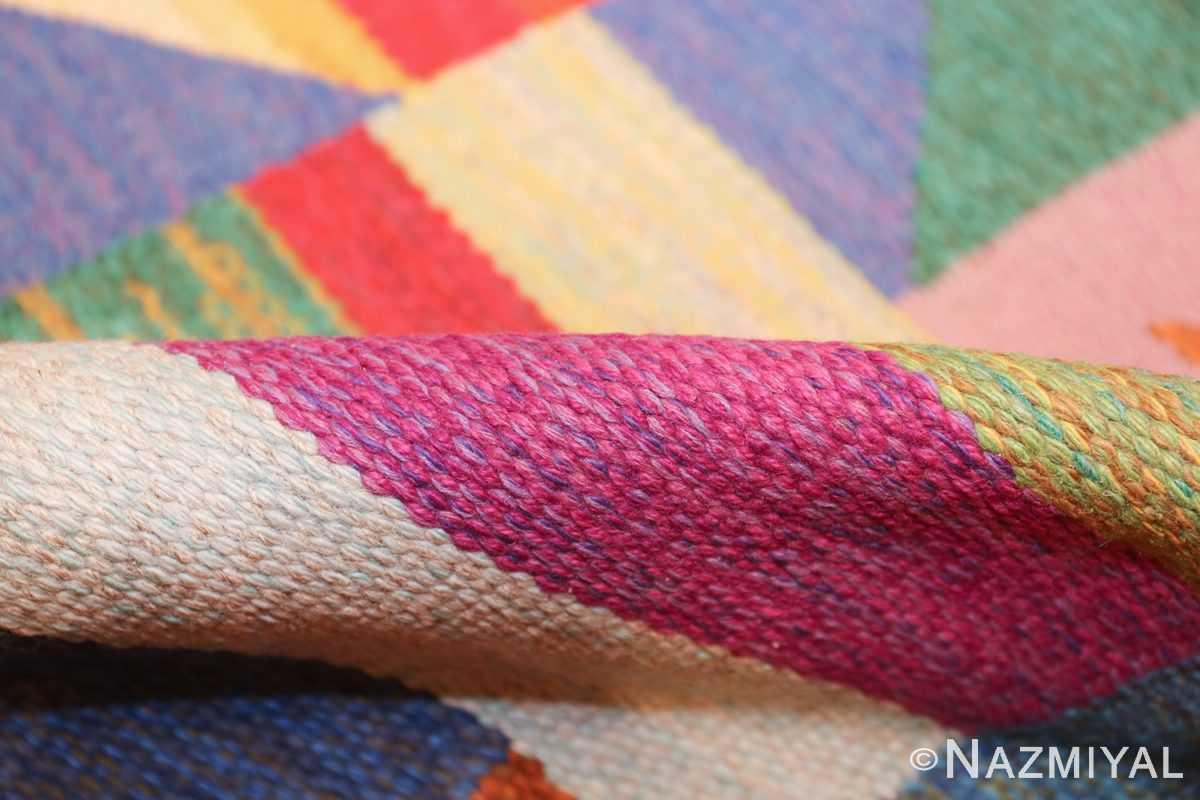 colorful vintage scandinavian kilim rug by agda osterberg 49573 pile Nazmiyal