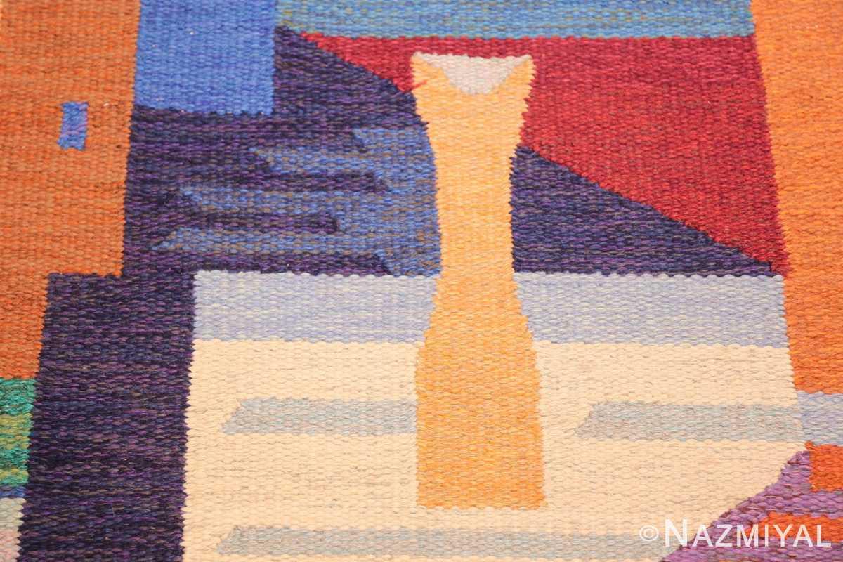 colorful vintage scandinavian kilim rug by agda osterberg 49573 vase Nazmiyal