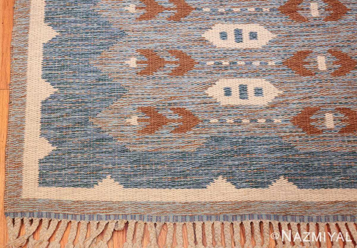 double sided vintage scandinavian rug 49567 corner Nazmiyal