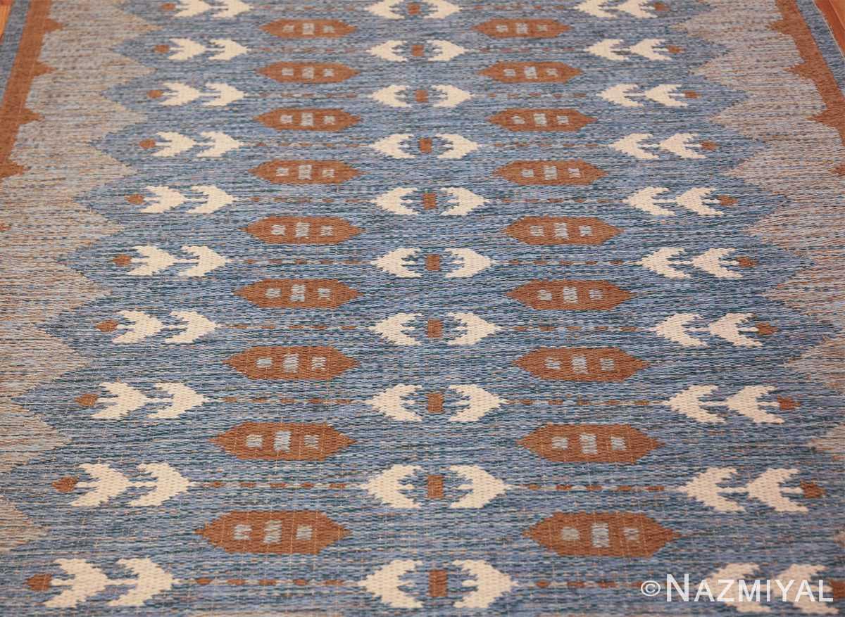 double sided vintage scandinavian rug 49567 field Nazmiyal
