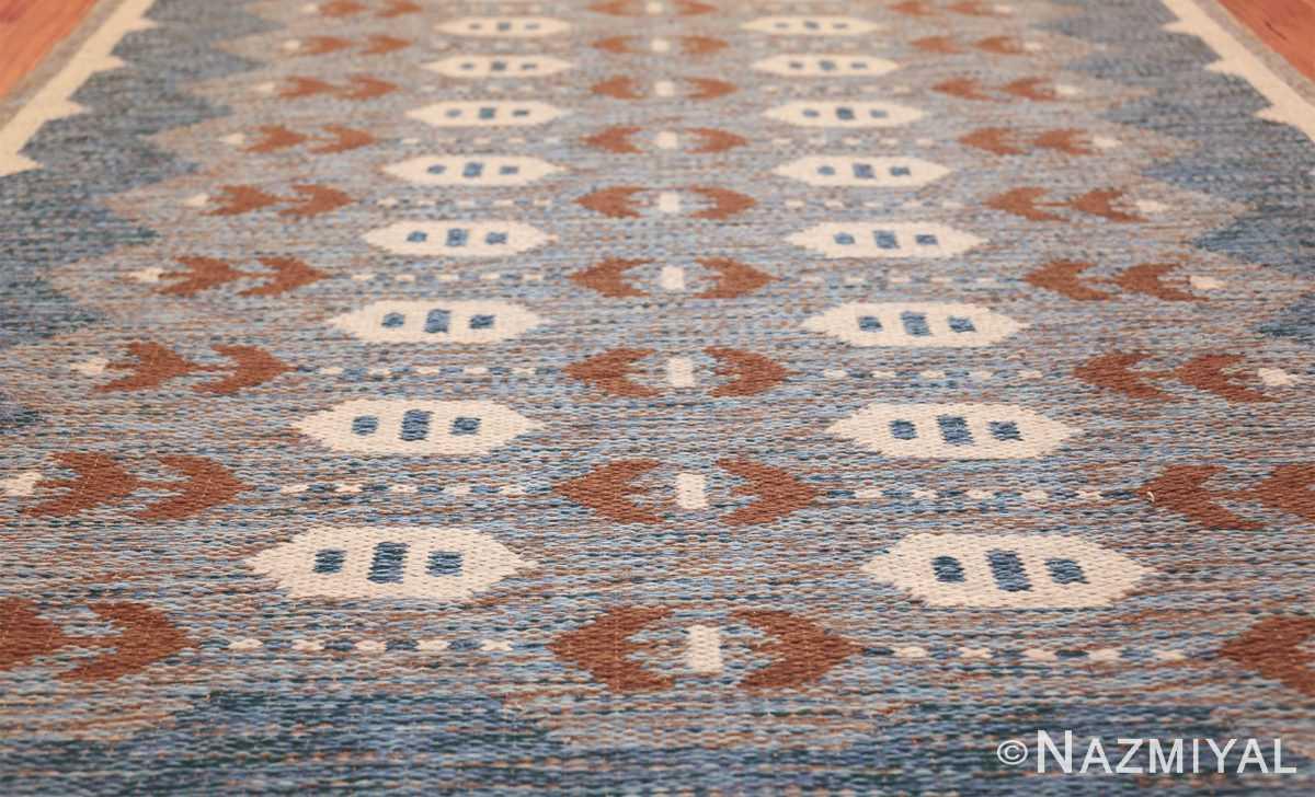 double sided vintage scandinavian rug 49567 lines Nazmiyal