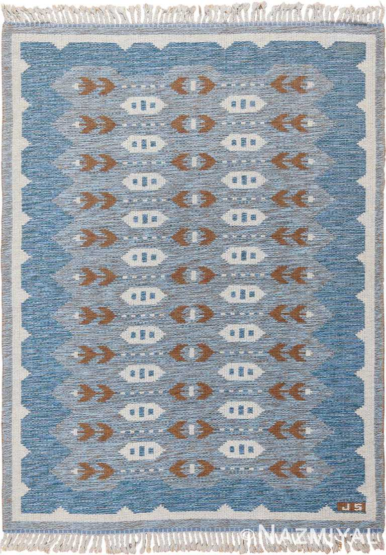 Double Sided Vintage Mid Century Scandinavian Rug 49567 by Nazmiyal