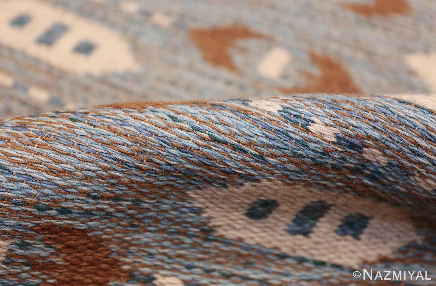 double sided vintage scandinavian rug 49567 pile Nazmiyal