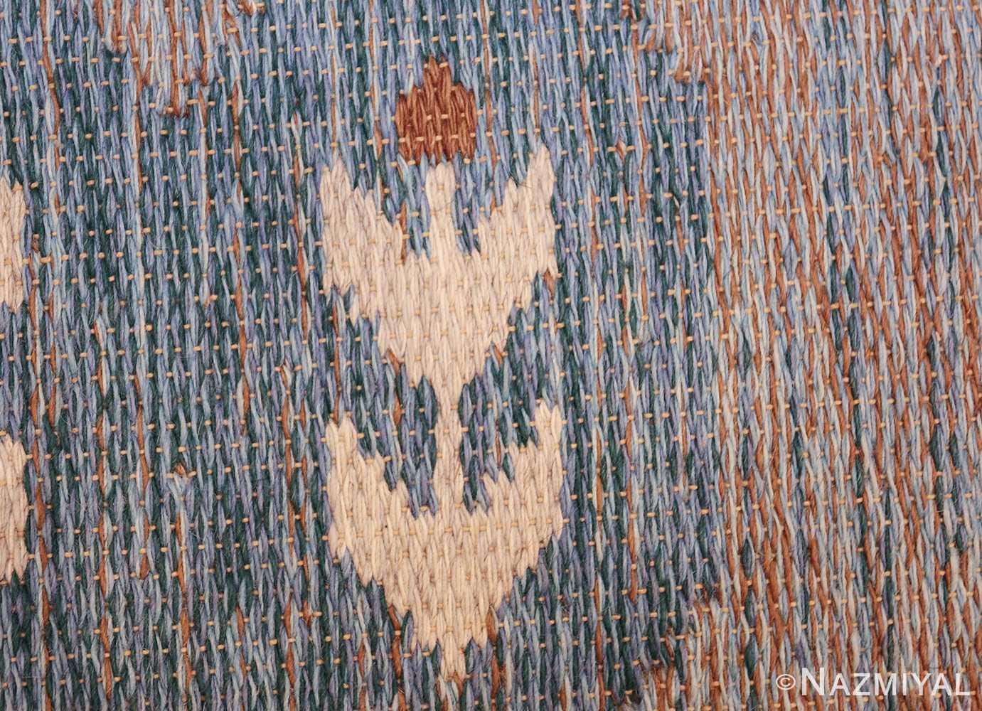 double sided vintage scandinavian rug 49567 texture Nazmiyal