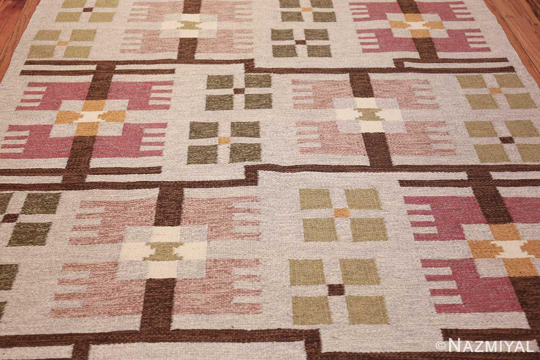 flat weave geometric scandinavian rug by ulla brandt 49565 field Nazmiyal