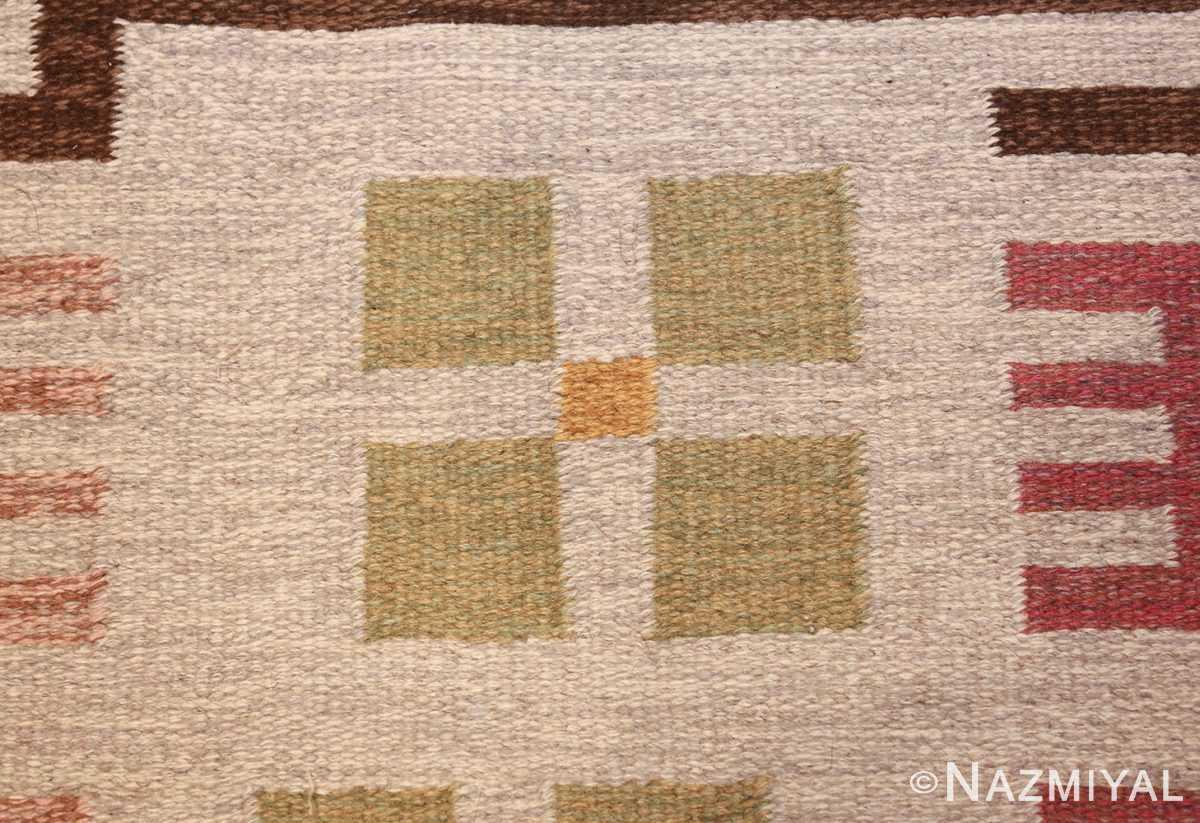 flat weave geometric scandinavian rug by ulla brandt 49565 flower Nazmiyal