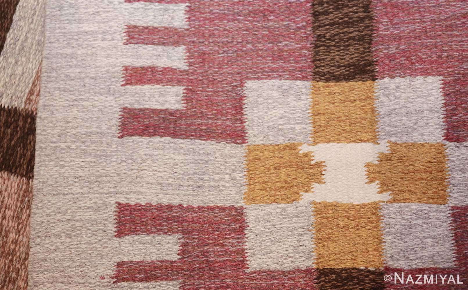 flat weave geometric scandinavian rug by ulla brandt 49565 knots Nazmiyal