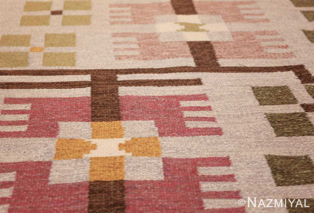 flat weave geometric scandinavian rug by ulla brandt 49565 leaves Nazmiyal