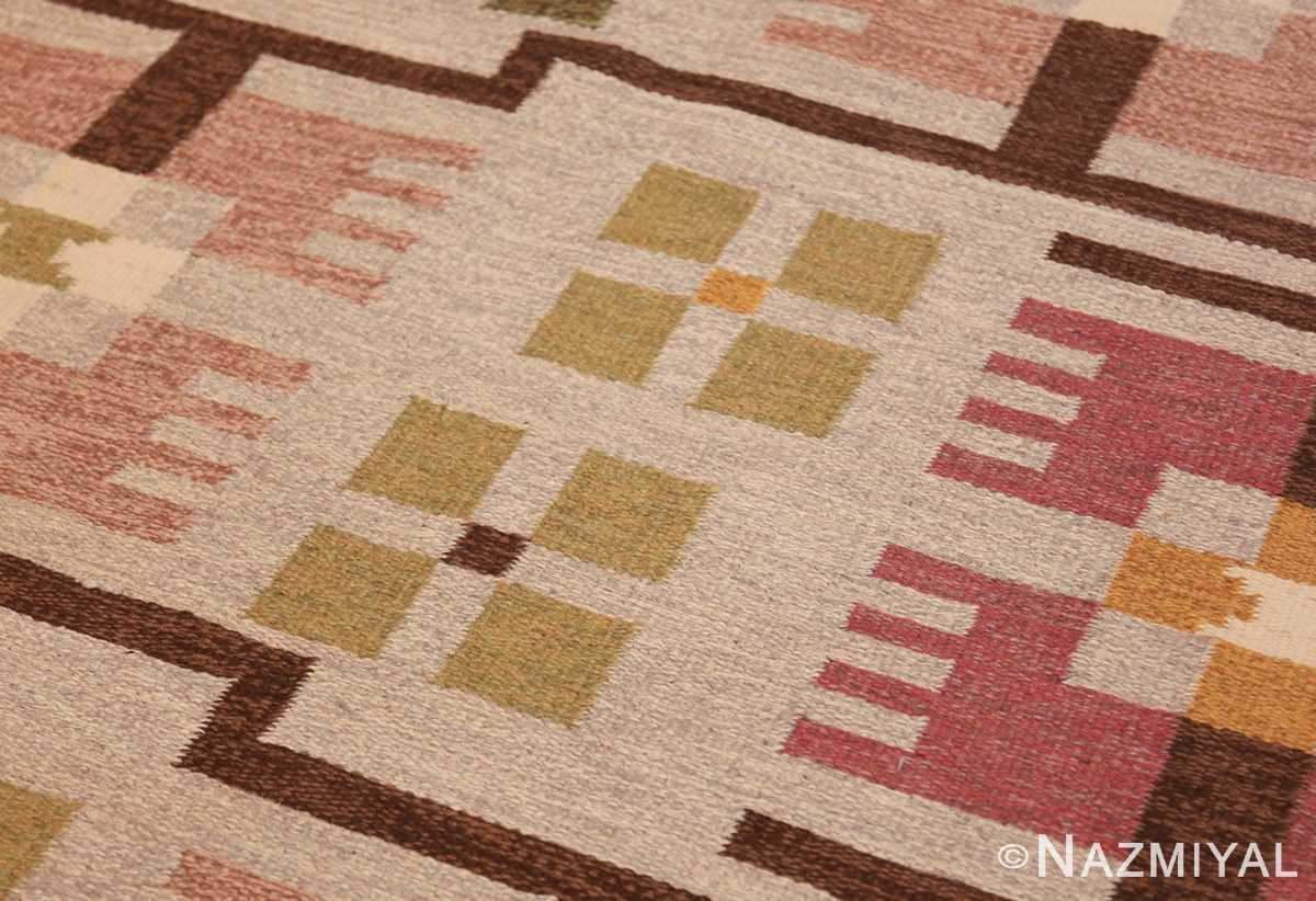 flat weave geometric scandinavian rug by ulla brandt 49565 lines Nazmiyal
