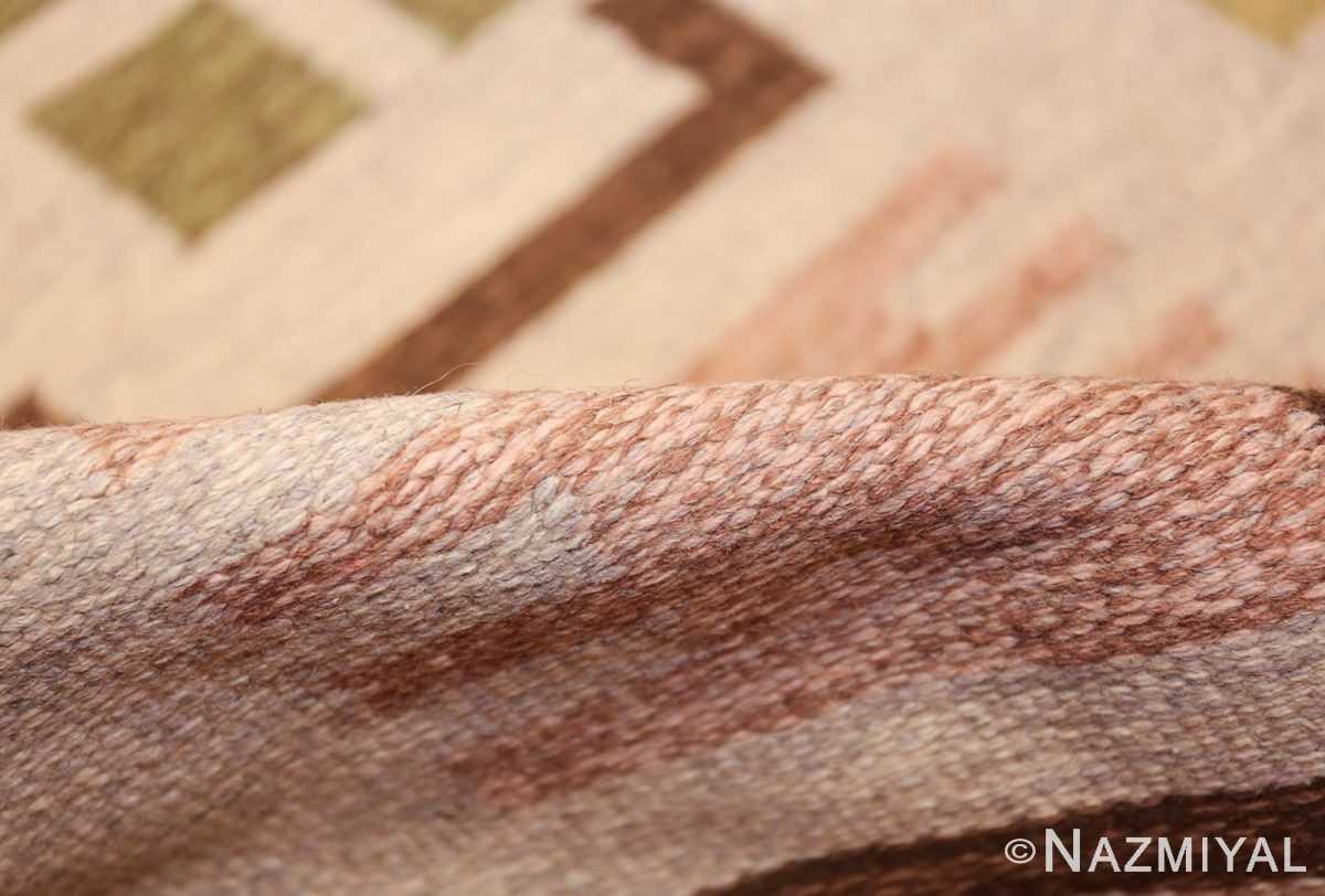 flat weave geometric scandinavian rug by ulla brandt 49565 pile Nazmiyal
