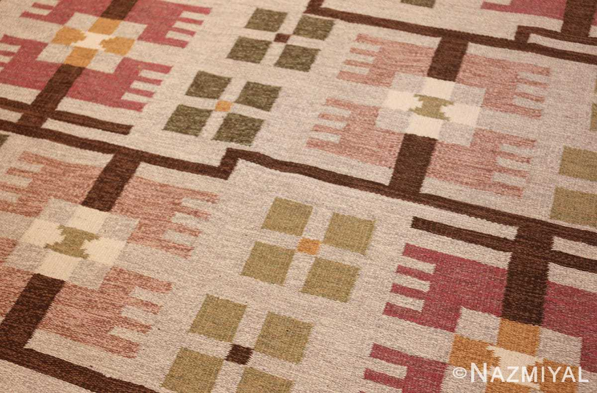 flat weave geometric scandinavian rug by ulla brandt 49565 side Nazmiyal
