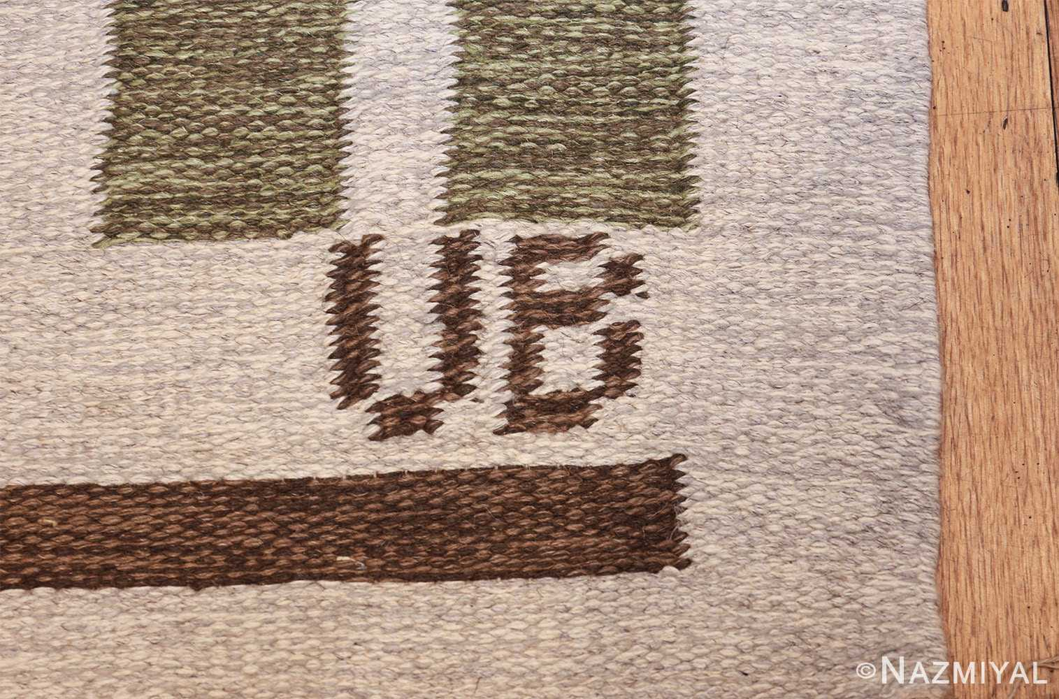 flat weave geometric scandinavian rug by ulla brandt 49565 signature Nazmiyal