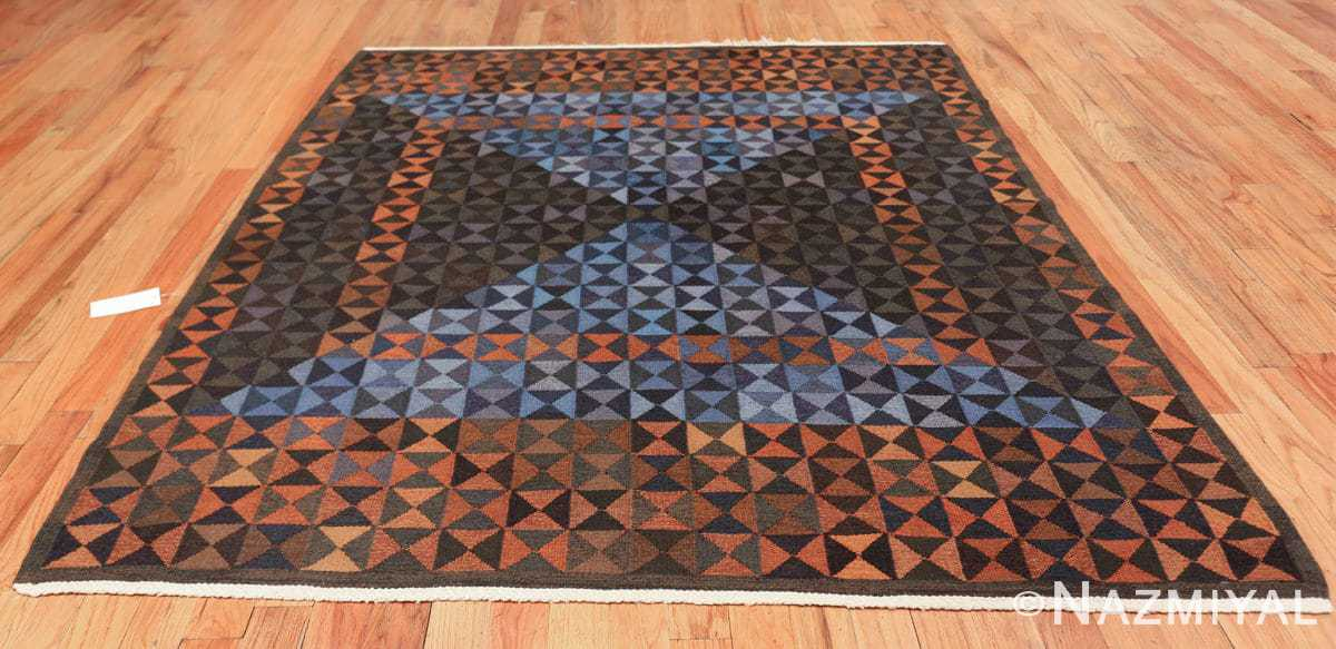 geometric vintage scandinavian rug by kristianstad lans hemslöjd 49587 whole Nazmiyal