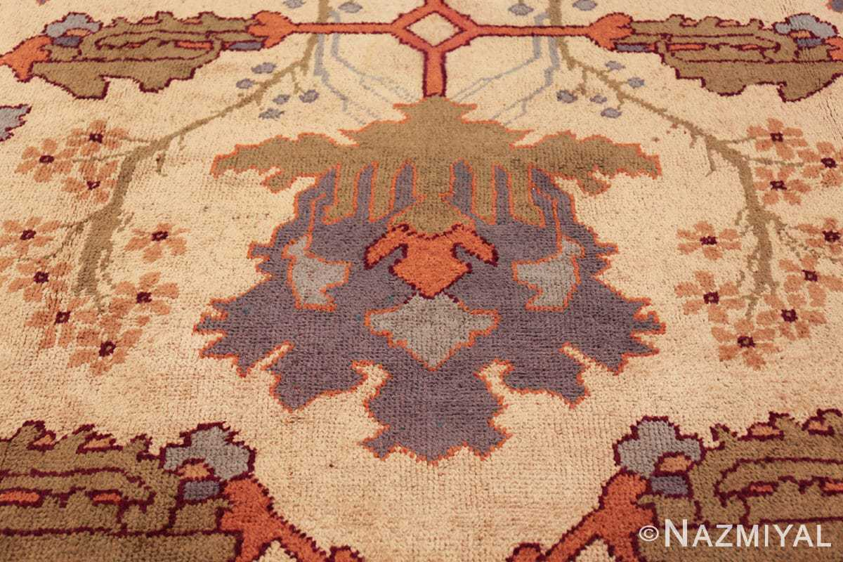 large antique arts and crafts donegal irish rug 49498 blue Nazmiyal