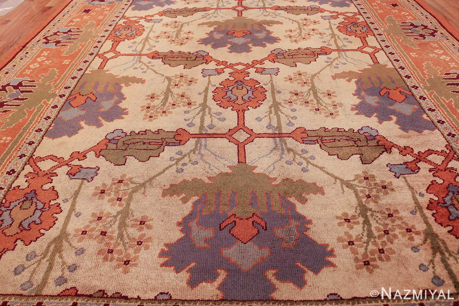 large antique arts and crafts donegal irish rug 49498 field Nazmiyal