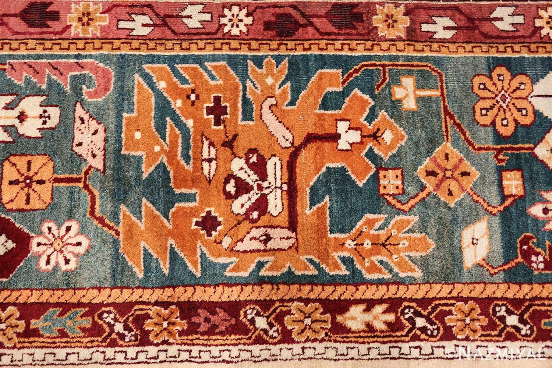 large antique ivory background agra indian rug 49588 border Nazmiyal