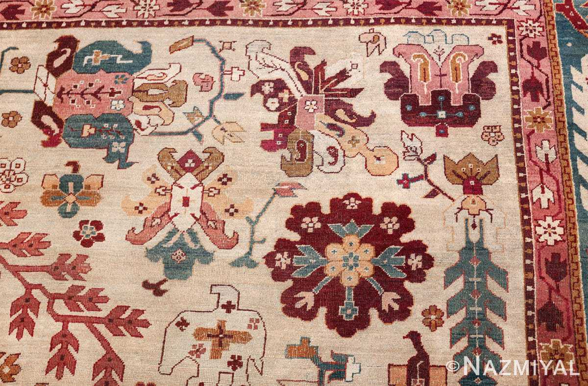 large antique ivory background agra indian rug 49588 design Nazmiyal
