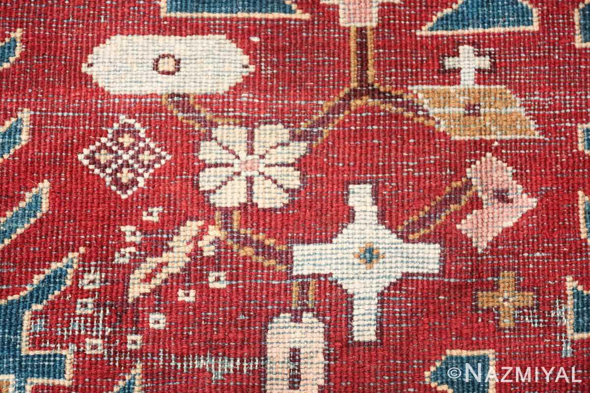 large antique ivory background agra indian rug 49588 knots Nazmiyal